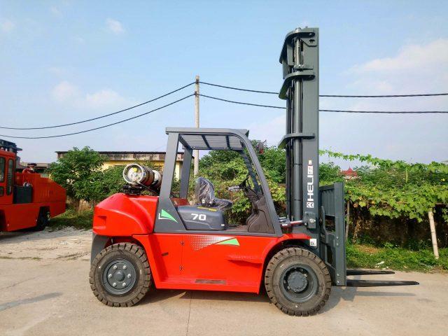Xe nâng 7 tấn Heli nhiên liệu Gas-Lpg