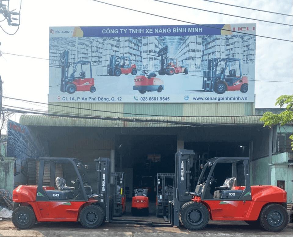 Xe nâng Heli BÌnh Minh tại Long An